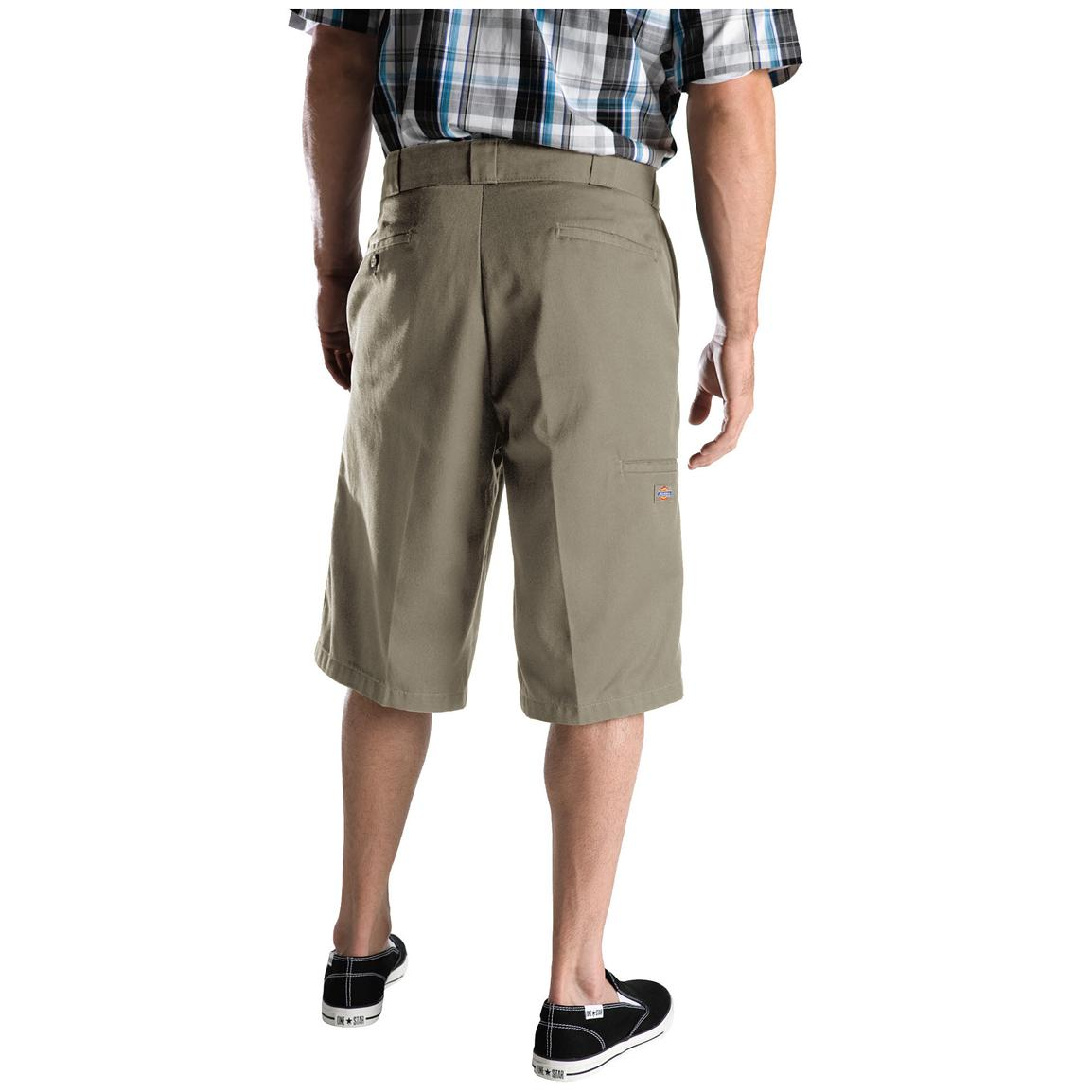 "Men's Dickies® 13"" Loose Fit Multi-pocket Work Shorts, Khaki - Back"