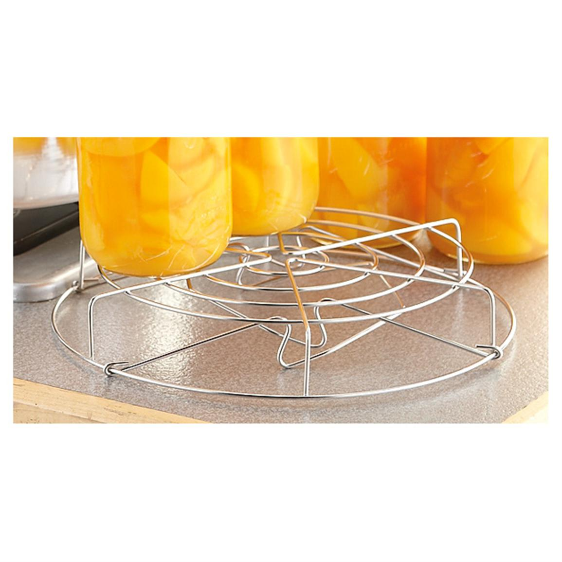 Removable stainless steel canning rack