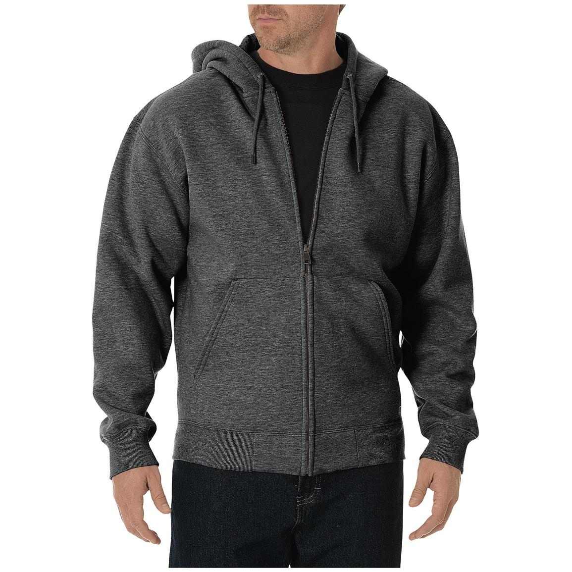 Dickies® Midweight Full-zip Fleece Work Hoodie, Dark Heather