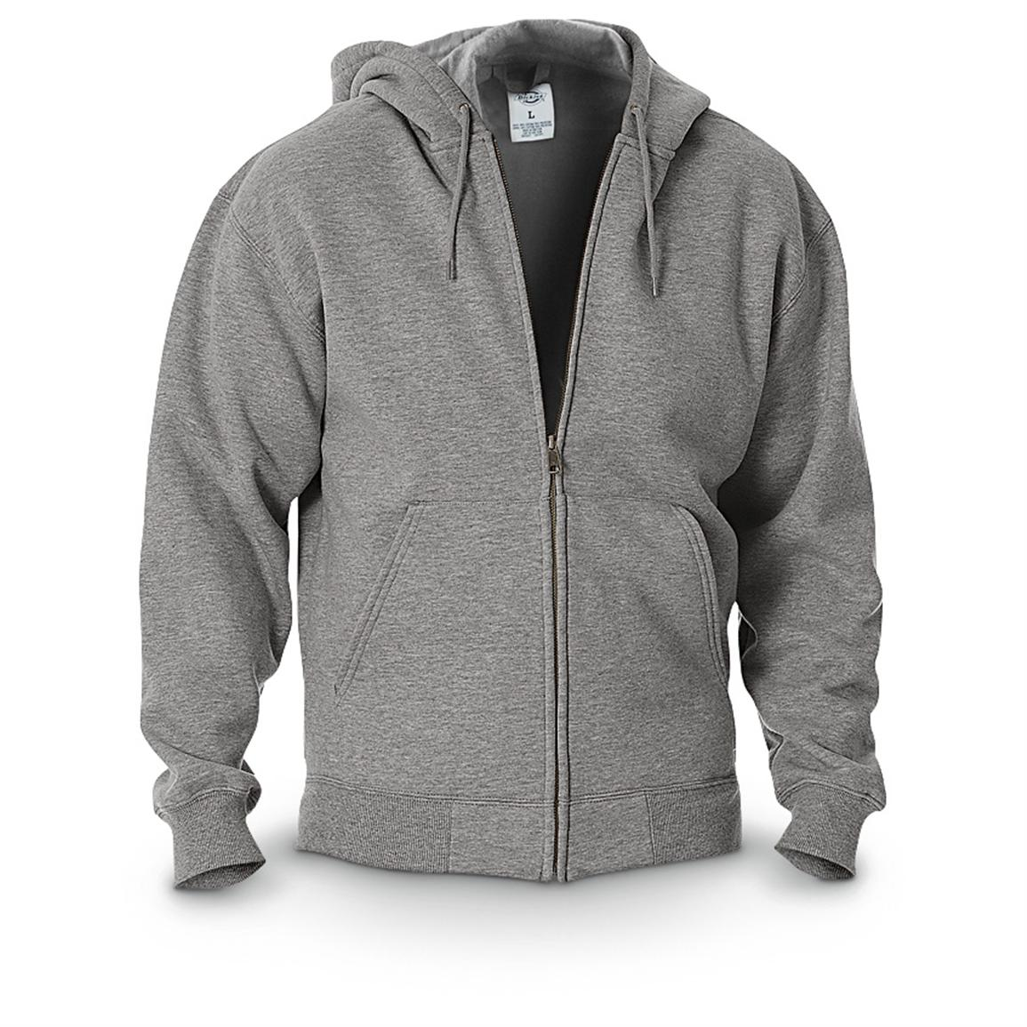 Dickies® Midweight Full-zip Fleece Work Hoodie, Heather Gray