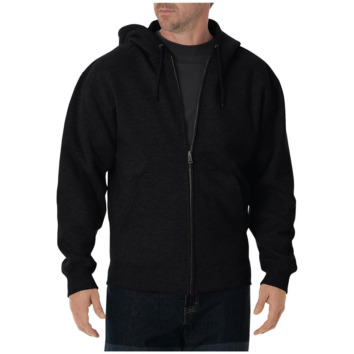 Dickies® Heavyweight Full-zip Fleece Work Hoodie, Black