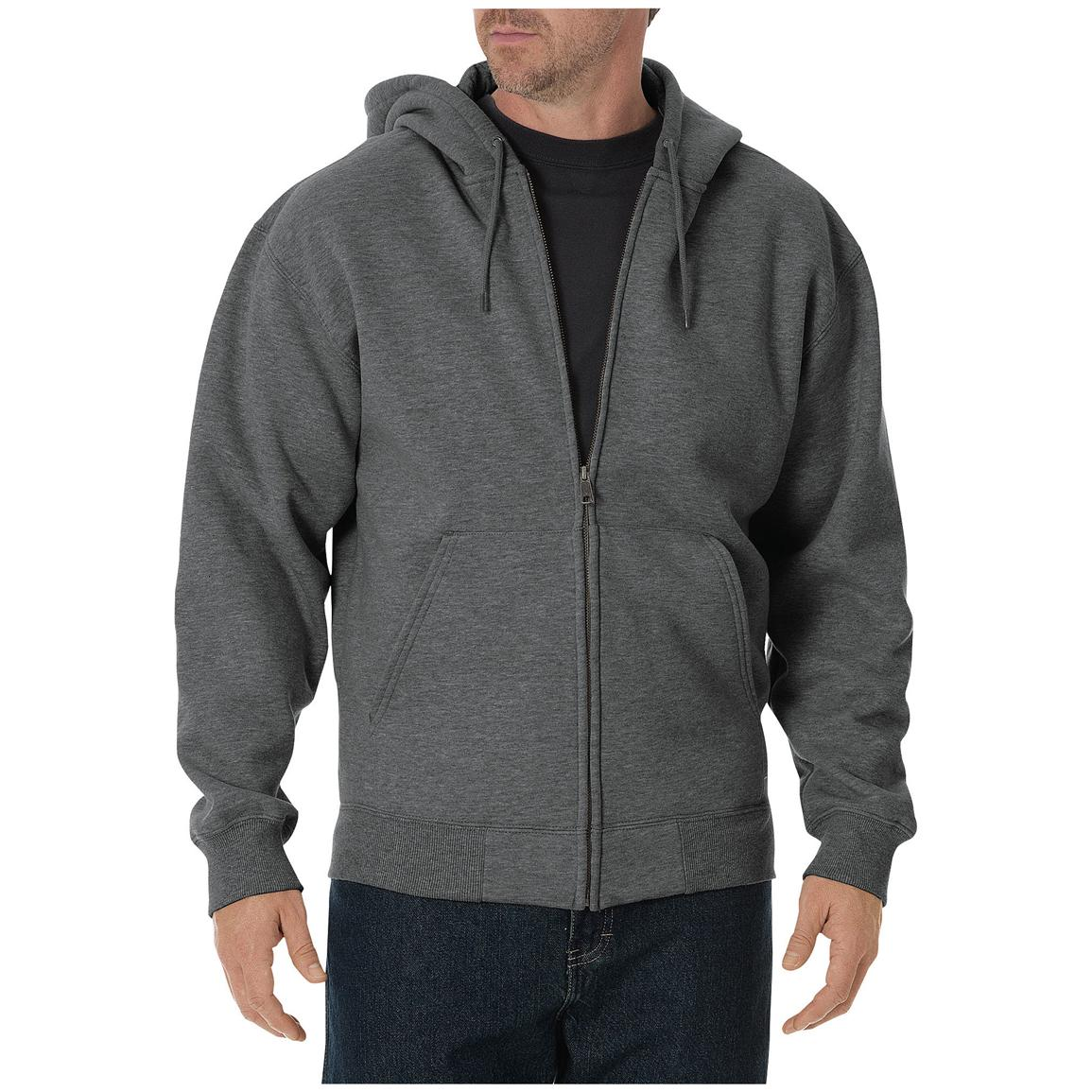 Dickies® Heavyweight Full-zip Fleece Work Hoodie, Dark Heather