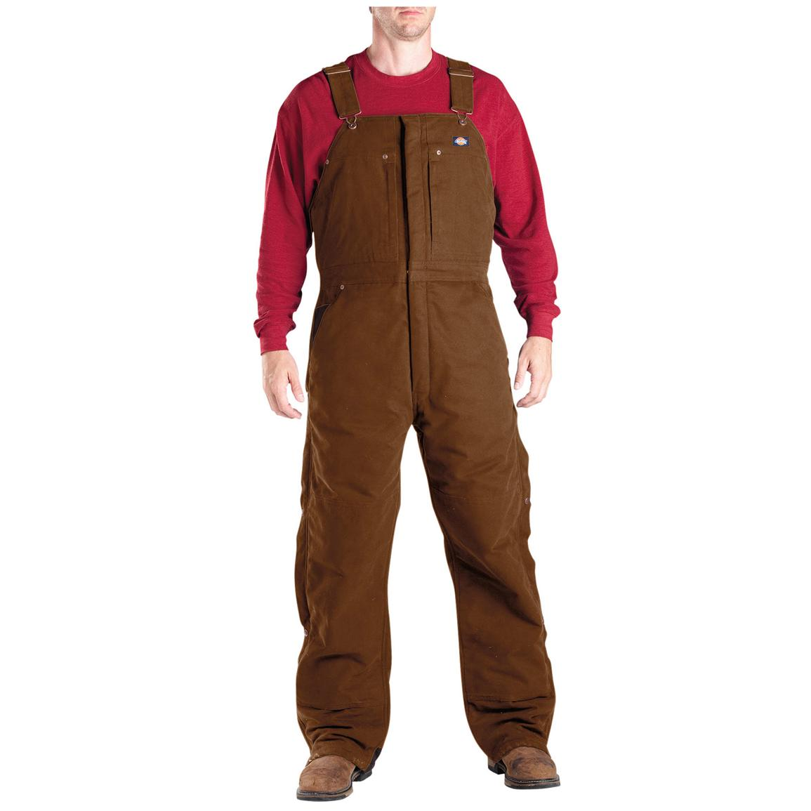 Dickies® Sanded Duck Work Overalls, Brown Duck