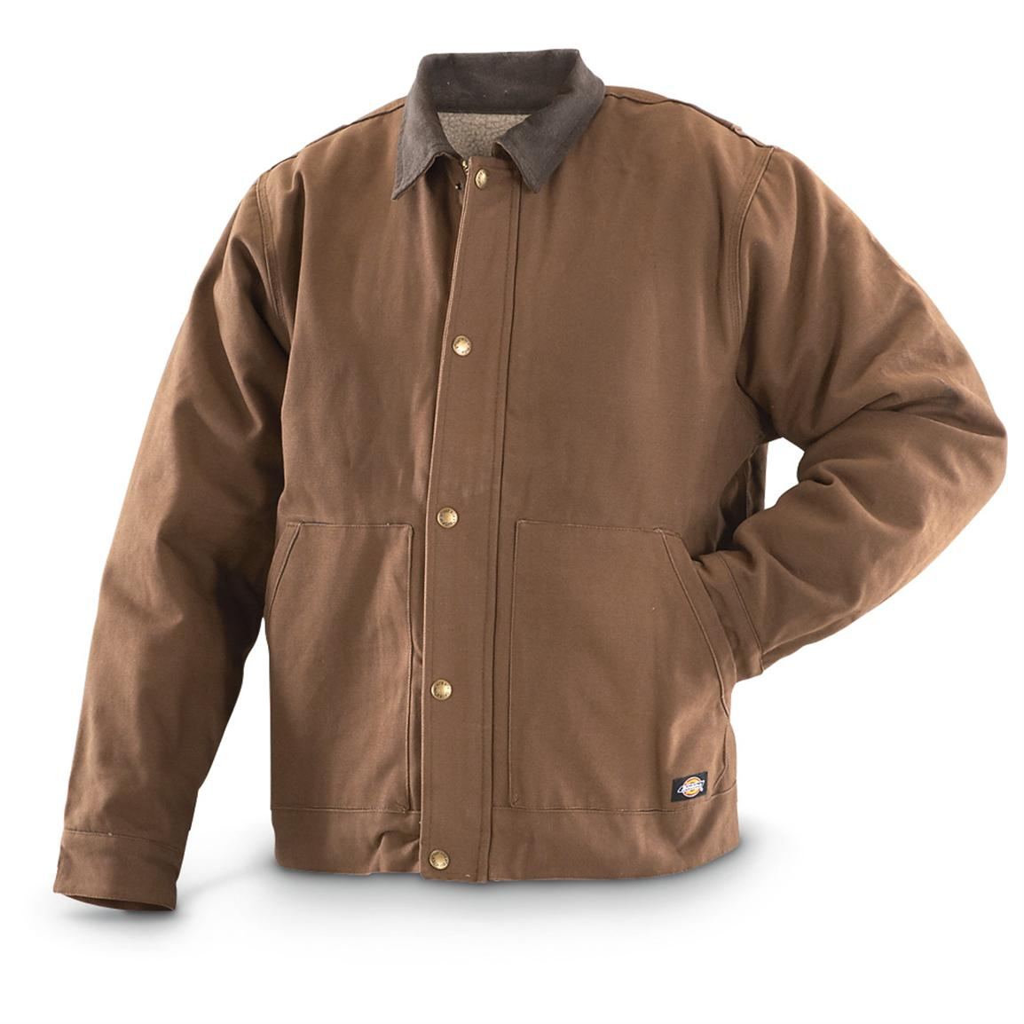 Dickies® Sanded Duck Sherpa-lined Work Jacket, Timber