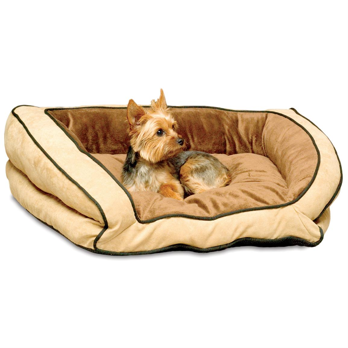 K&H™ Pet Products Bolster Couch, Mocha / Tan - Small