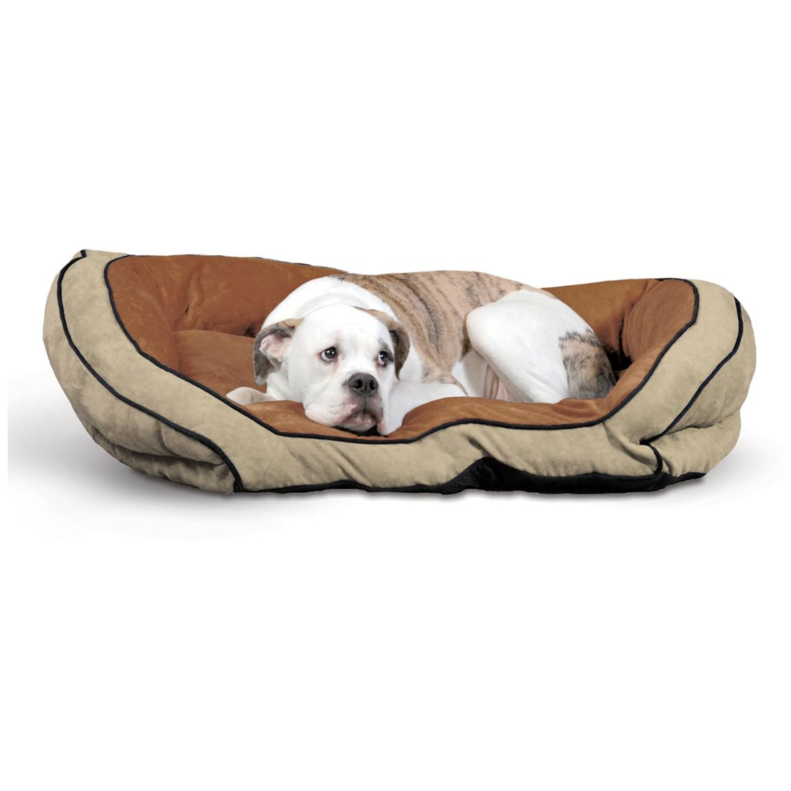 K&H™ Pet Products Bolster Couch, Mocha / Tan - Large
