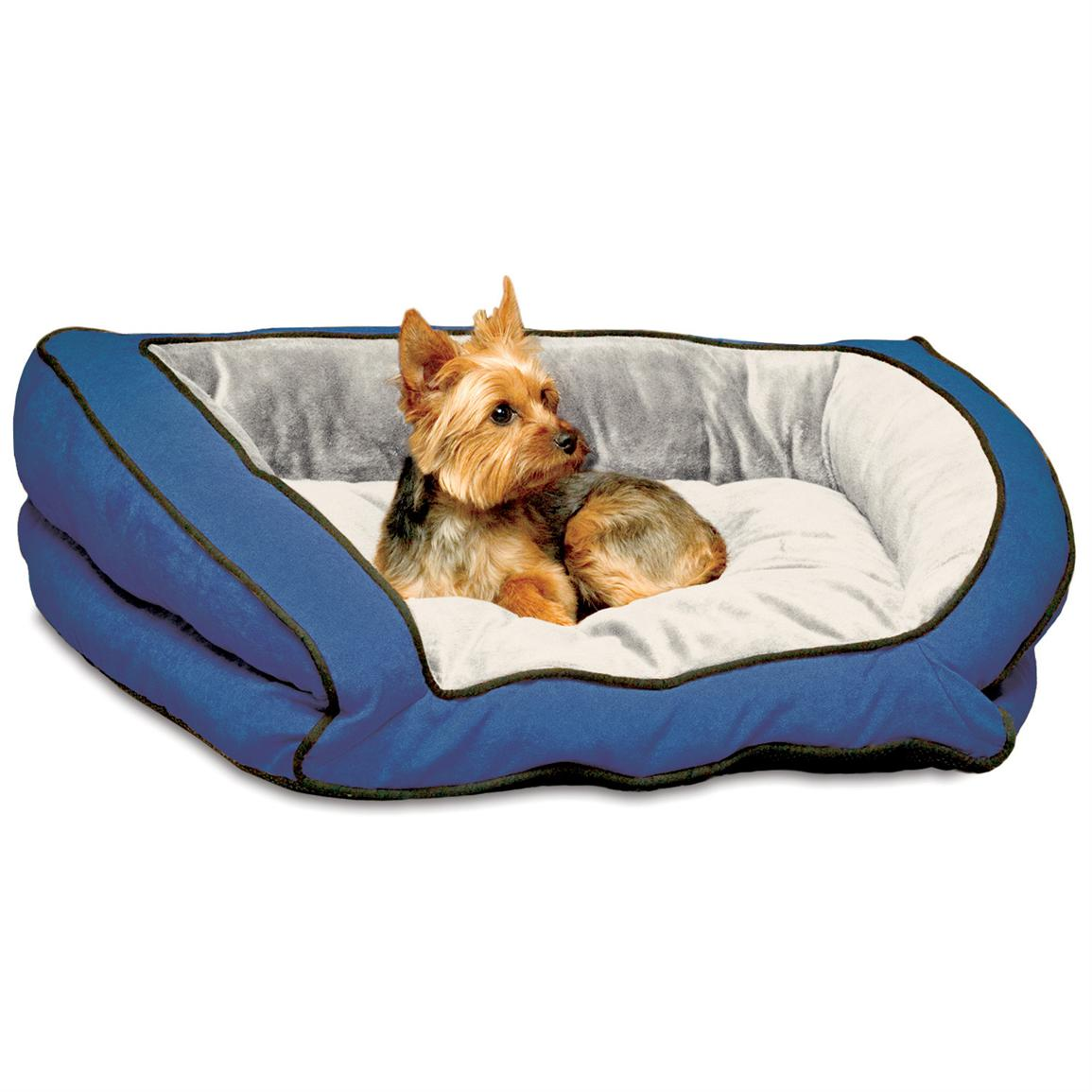 K&H™ Pet Products Bolster Couch, Blue / Grey - Small