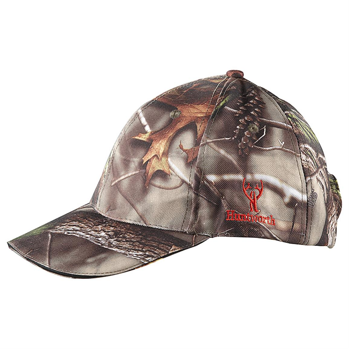 Huntworth™ 3-LED Hunting Cap, Oak Tree