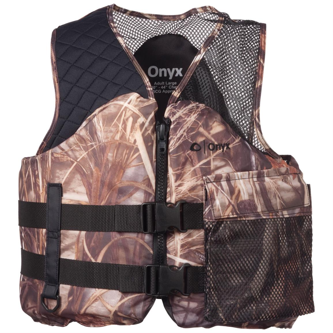 Adult Mesh Classic Camo Life Vest from Onyx®, Realtree Max-4®