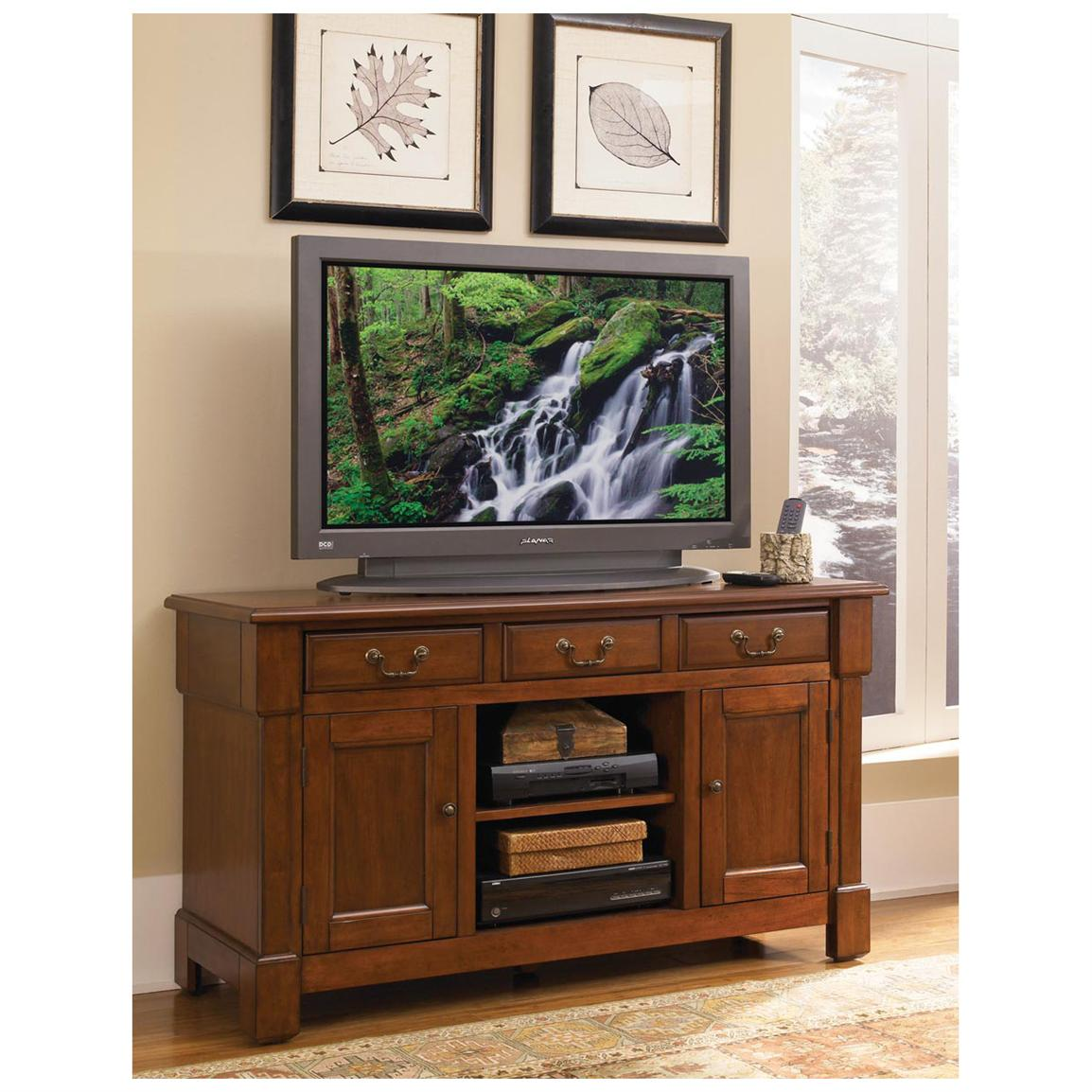 Home Styles® The Aspen Collection Rustic Cherry TV Credenza