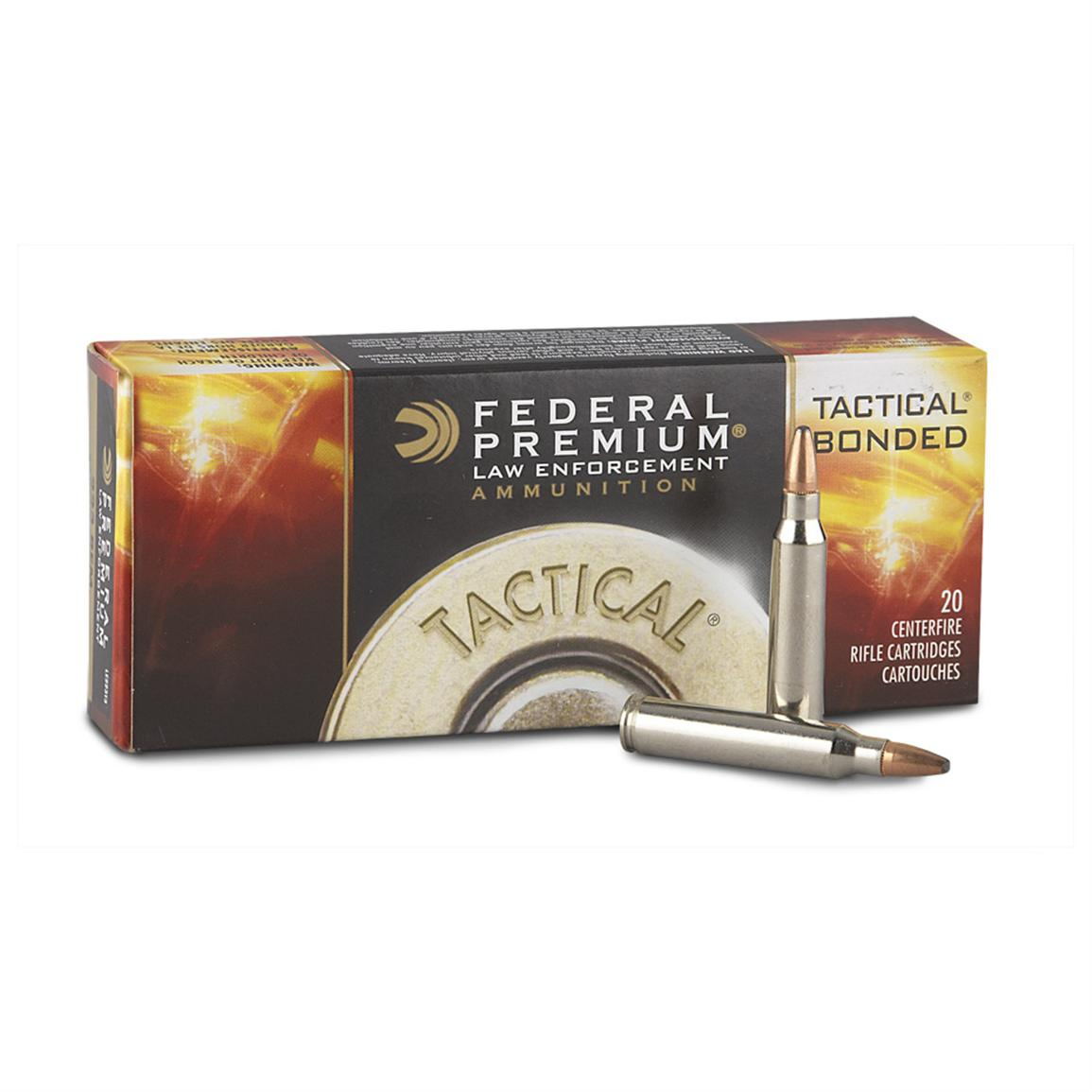 20 rds. Tactical® Bonded® .223 (5.56x45mm) 62 Grain Soft Point Ammo