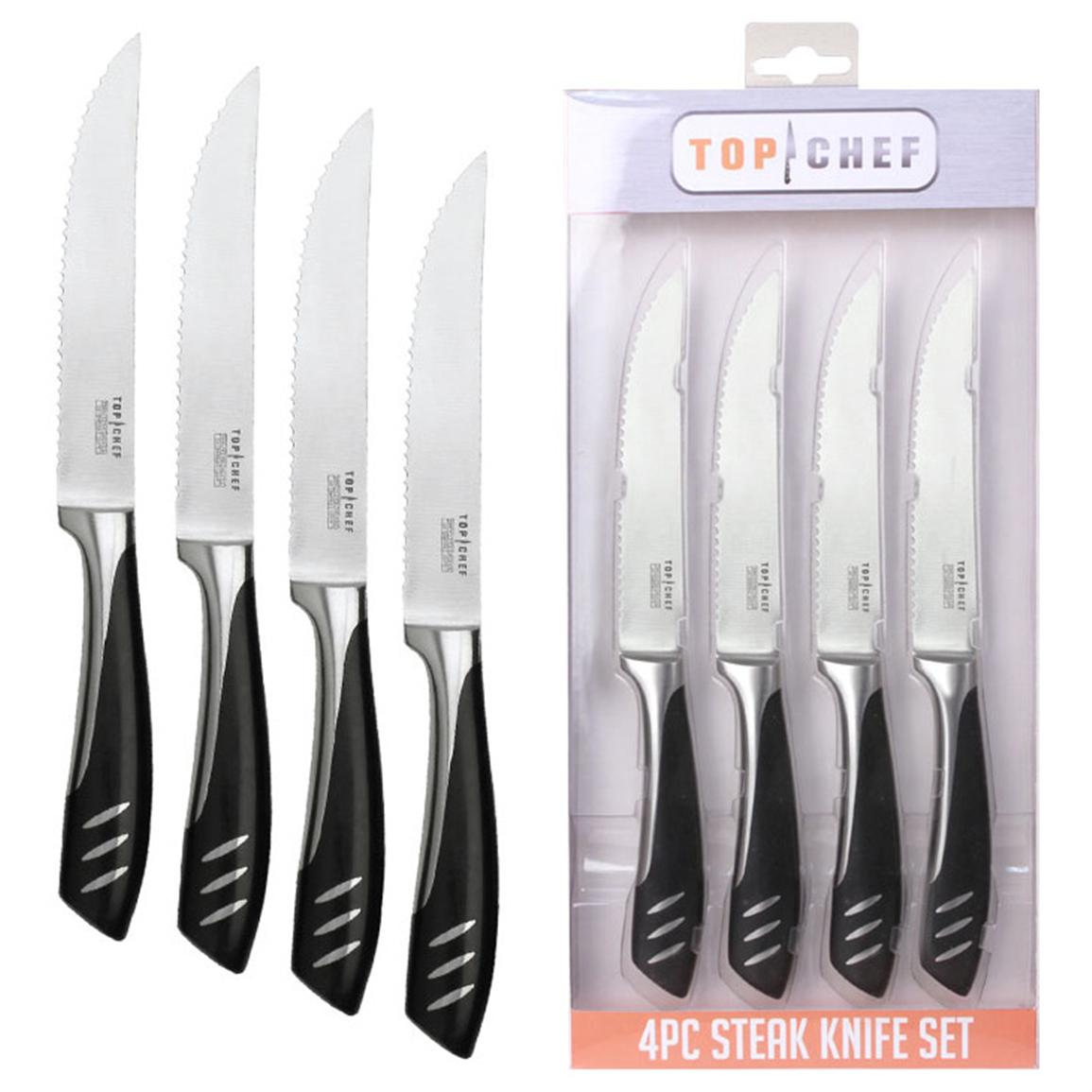 "4-Pc. Top Chef® 5"" Stainless Steel Steak Knife Set"