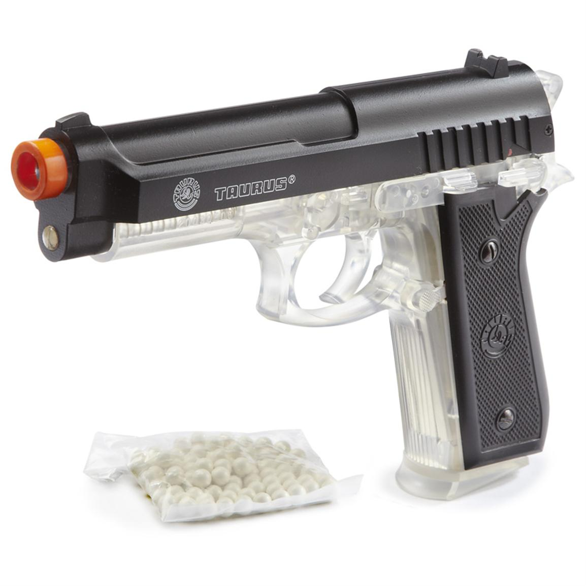 Taurus® PT92 Metal-slide Spring-powered Airsoft Pistol from Palco®, Clear