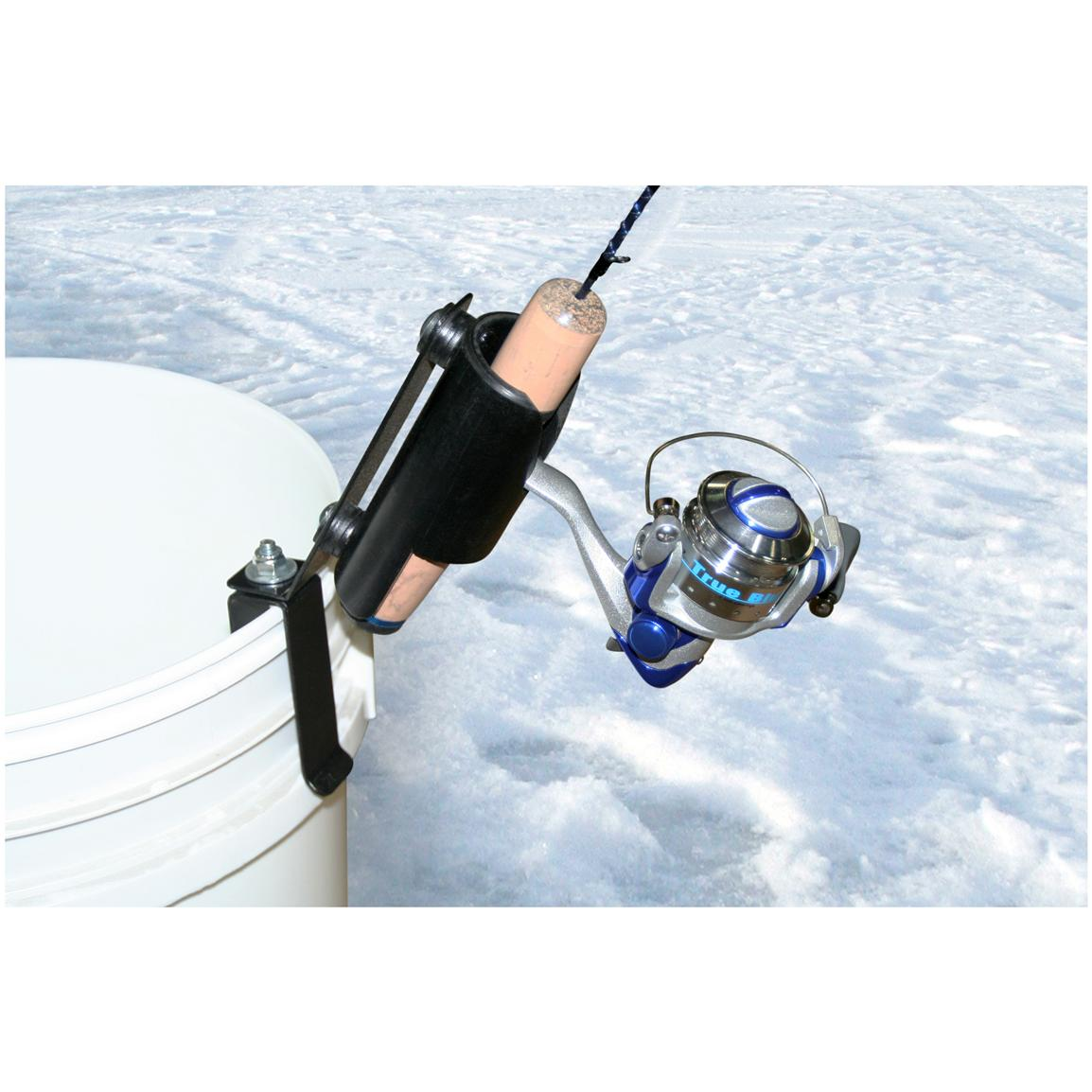 Clam mountable single rod holder 423865 ice fishing for Ice fishing gear list