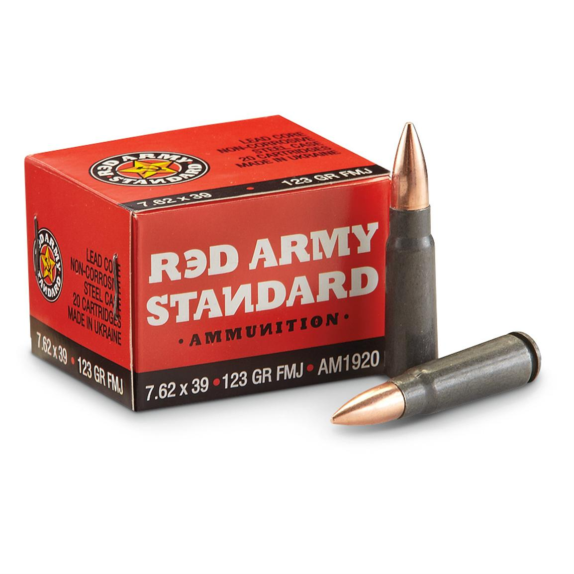180 rds. 7.62x39mm 123 Grain FMJ Ammo
