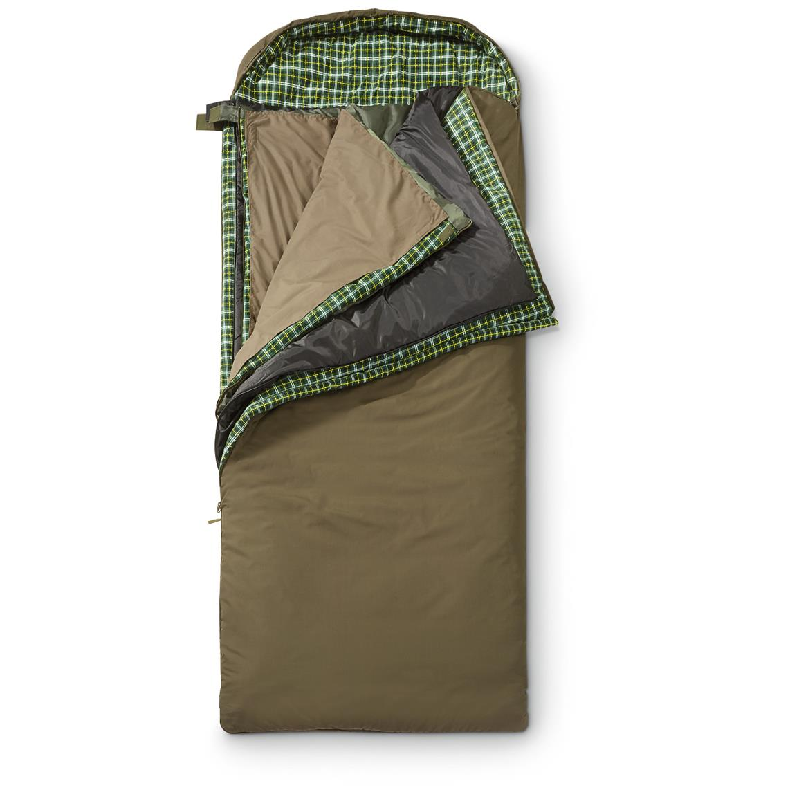 3 layers let your sleep in 6 ways: • Sleep on layer 1, cover with 2 • Sleep on 2 layers, cover with 1 • Outer Bag only •  Inner bag only • Outer and Inner Bags zip together to form a double bag • Add all layers together