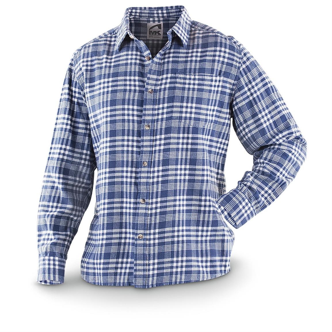 Mountain Khakis Peden Plaid Long-sleeved Shirt, Navy / Lily White