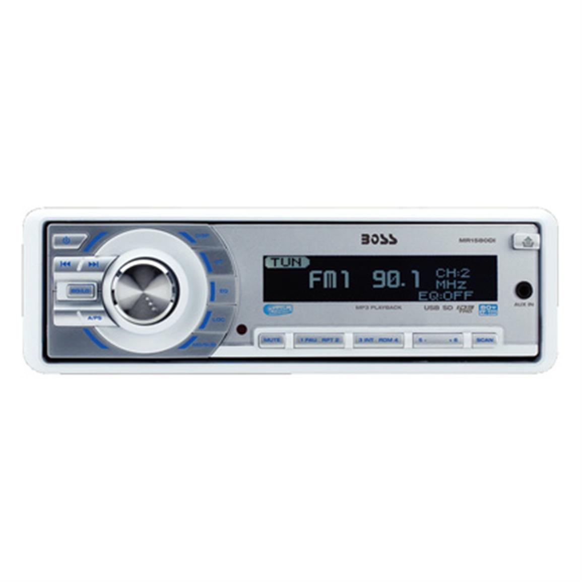 Boss Marine® MR1580DI AM / FM / iPhone / iPod / MP3 80W x 4-channel Digital Marine Stereo with Remote