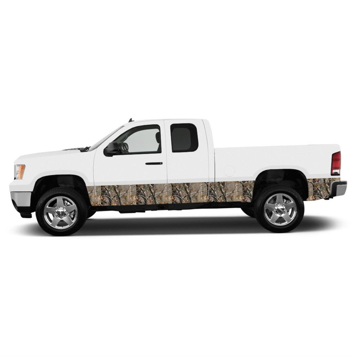 "Camowraps® Premium Rocker Panel 16"" Camo Accent Kit for Full-size Pickup Trucks, Realtree All Purpose"