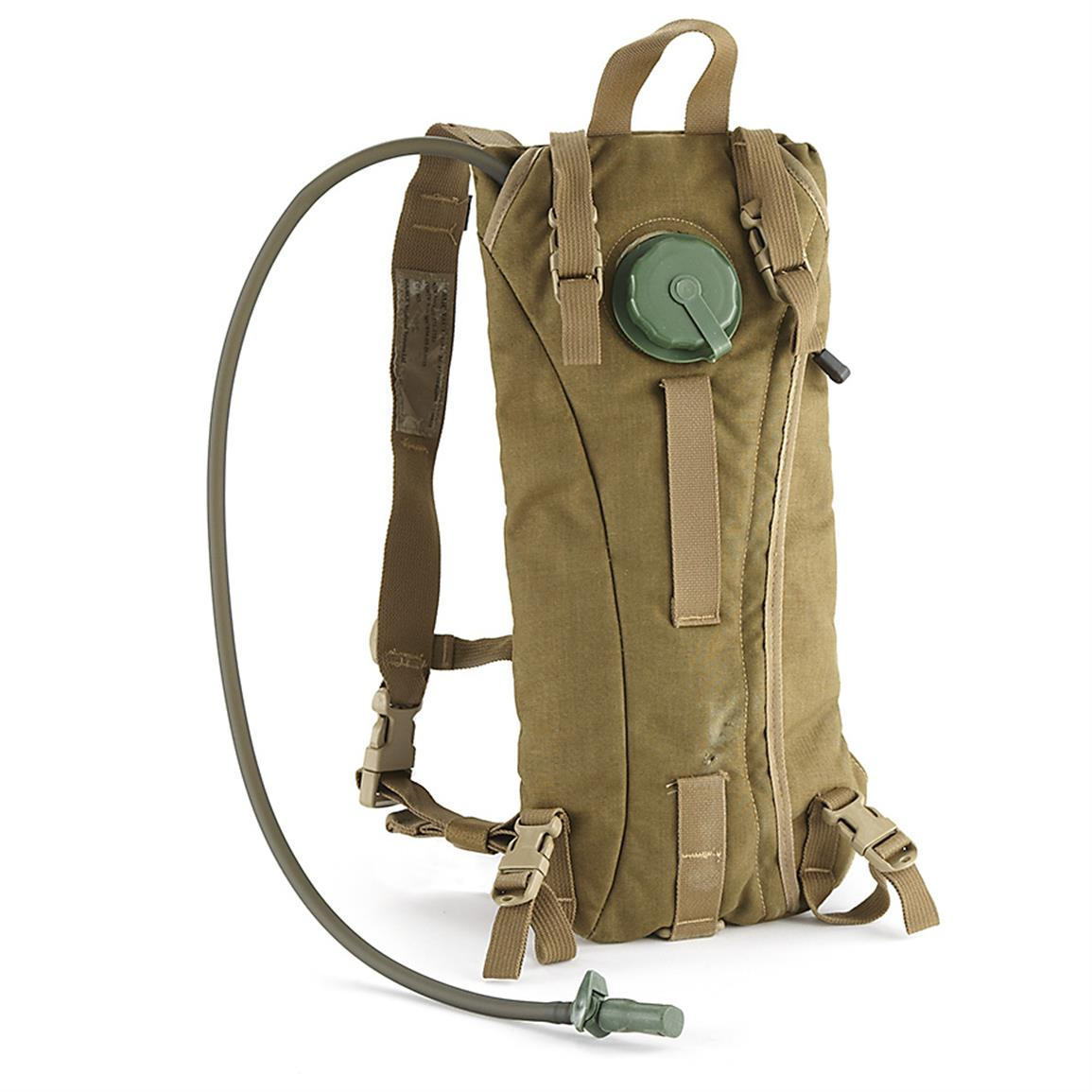 Used Military Surplus Hydration Pack, Coyote Tan