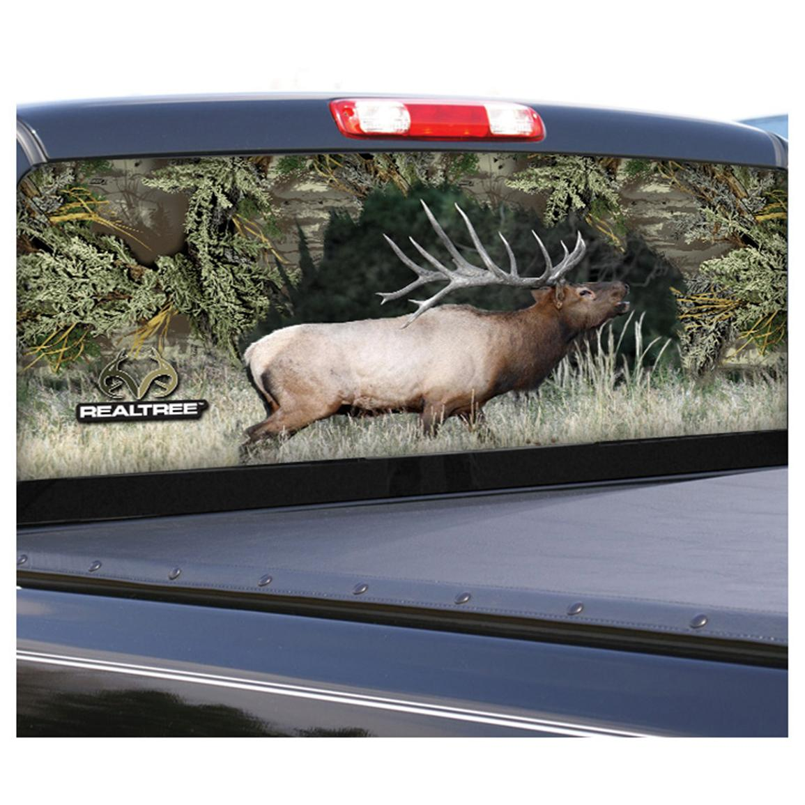 Camowraps® Elk Graphic Rear Window Film for Compact Truck, Realtree Max-1®