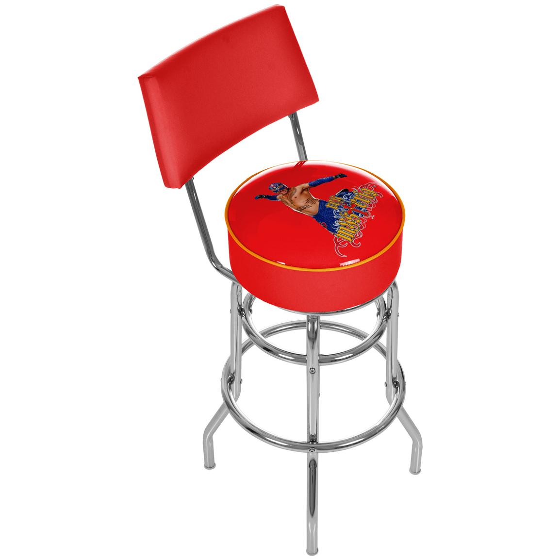 WWE® Rey Mysterio Padded Bar Stool with Backrest