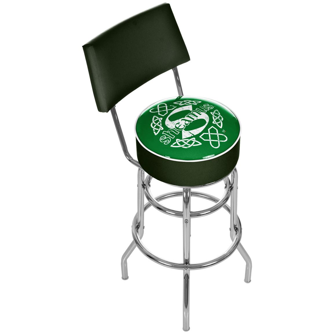 WWE® Sheamus Padded Bar Stool with Backrest