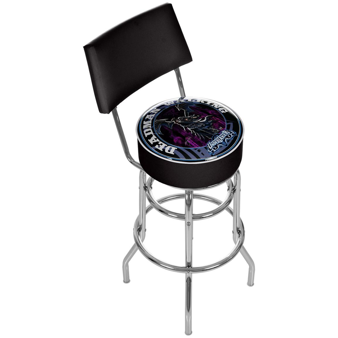 WWE® Undertaker Padded Bar Stool with Backrest