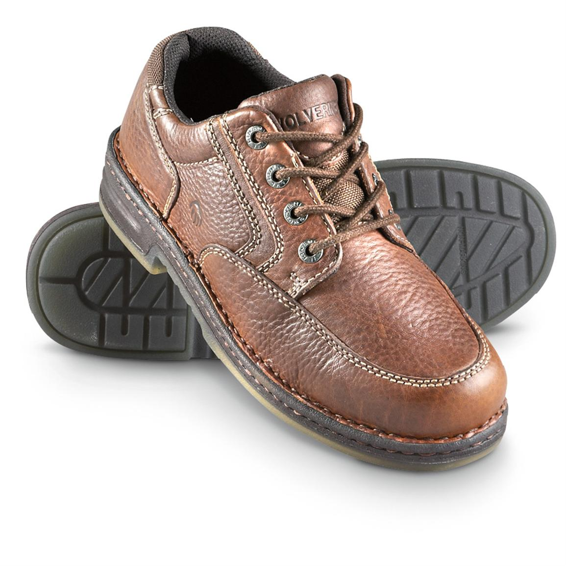 Men's Wolverine® Opanka Oxfords, Dark Brown