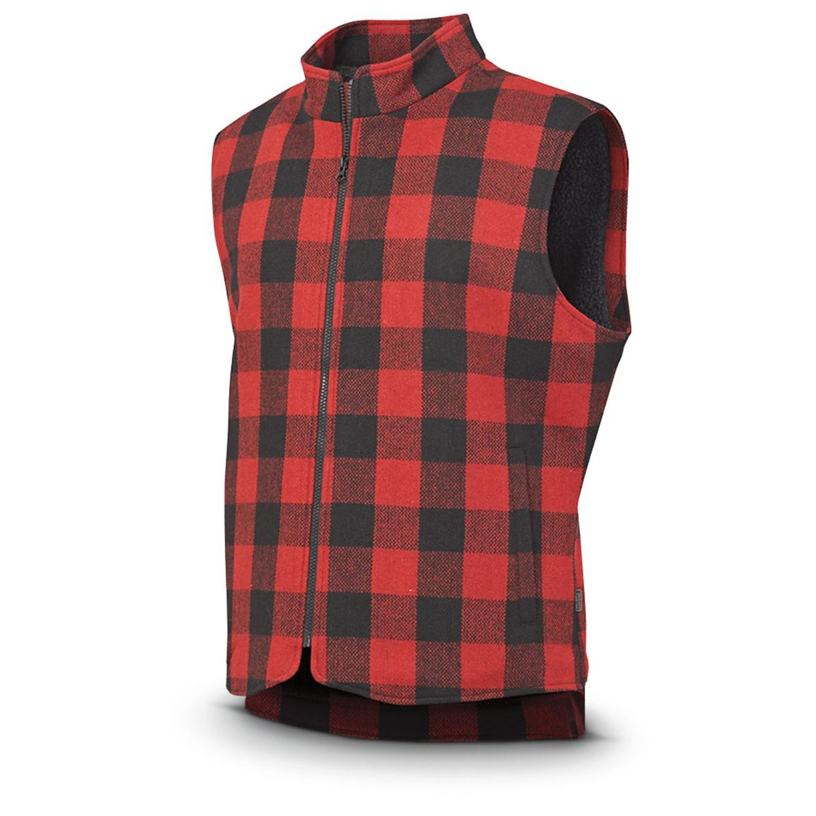 Irish Setter® Field Camp Vest, Red / Black Plaid