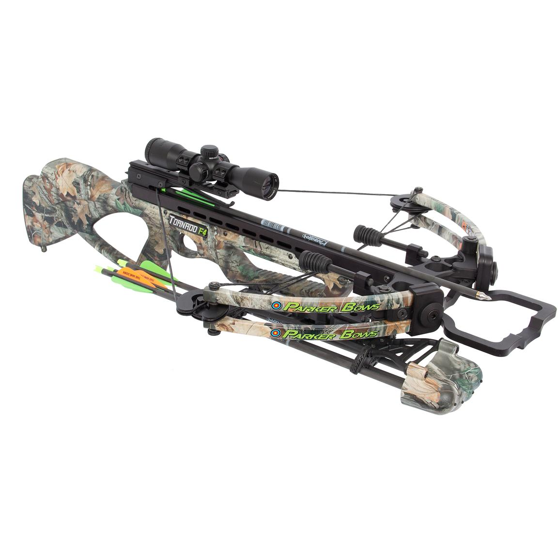 Parker® Tornado F4 165-lb. Crossbow with 1X Illuminated Scope Package