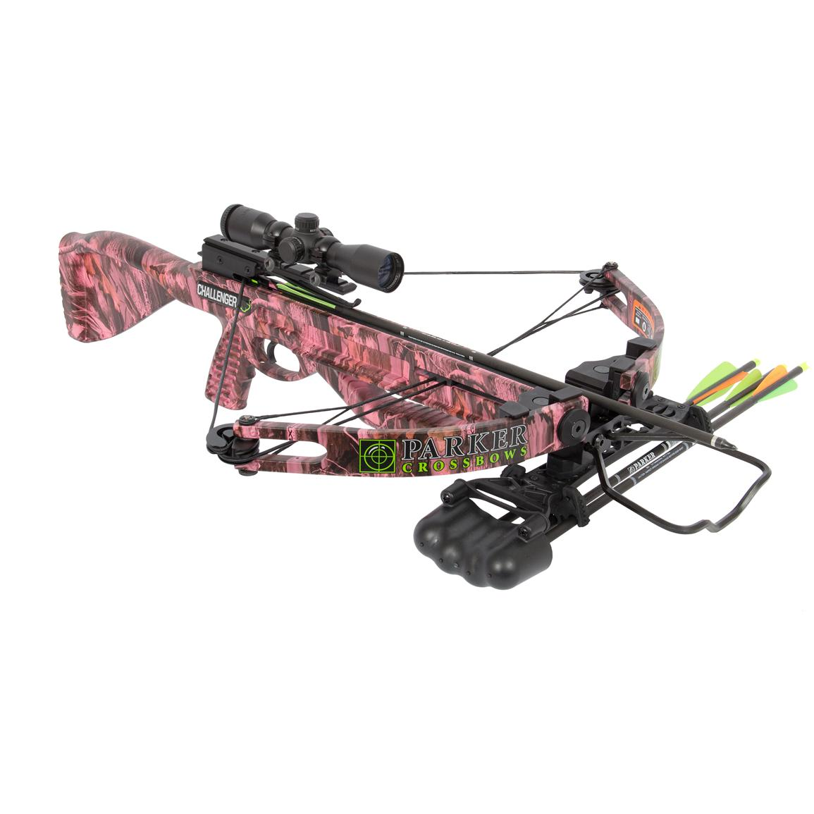 Parker® Pink Challenger Small Frame Crossbow with 3X Illuminated Scope Package