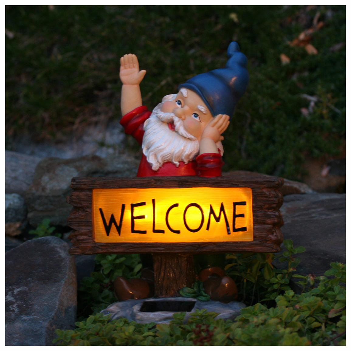 Smart Solar™ Welcome Gnome Solar Accent Light