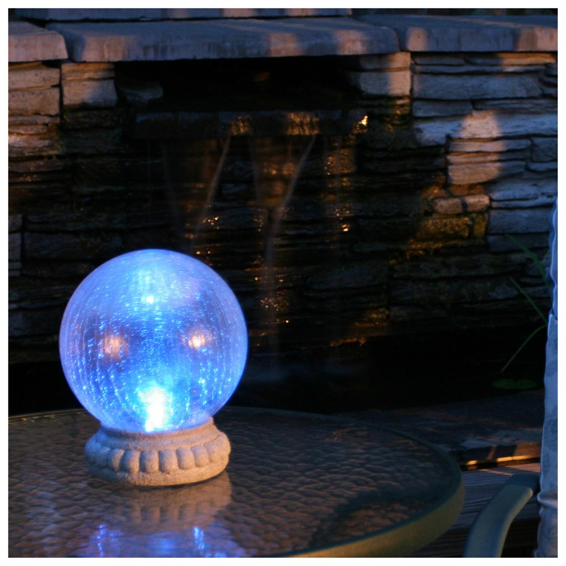 Smart Solar Crackled Glass Gazing Ball Light With