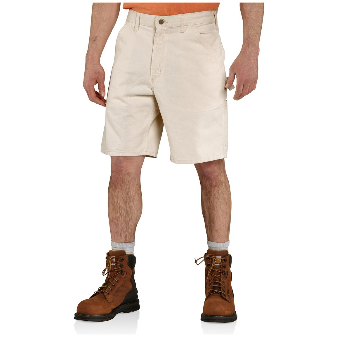 Carhartt® Washed Drill Work Shorts, Natural, Front