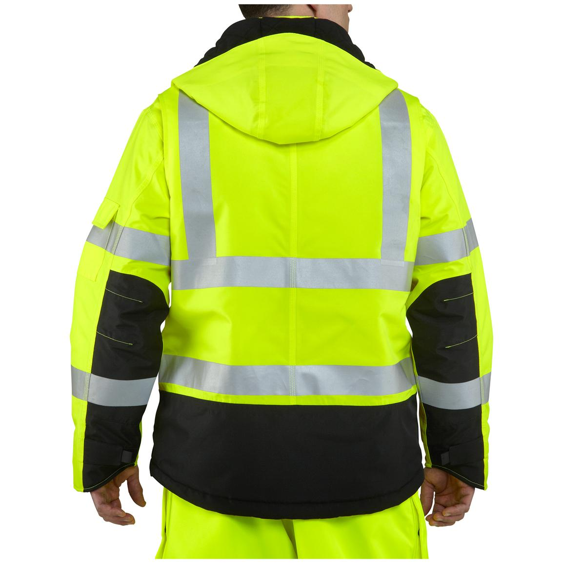 Carhartt®High-visibility Class 3 Sherwood Jacket, Brite Lime, Back