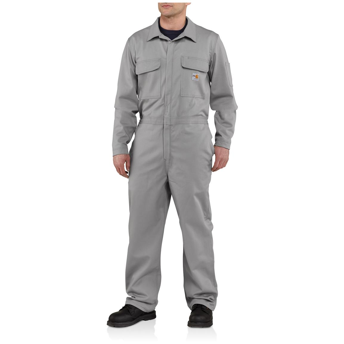 Carhartt® Flame-resistant Classic Twill Coveralls, Gray