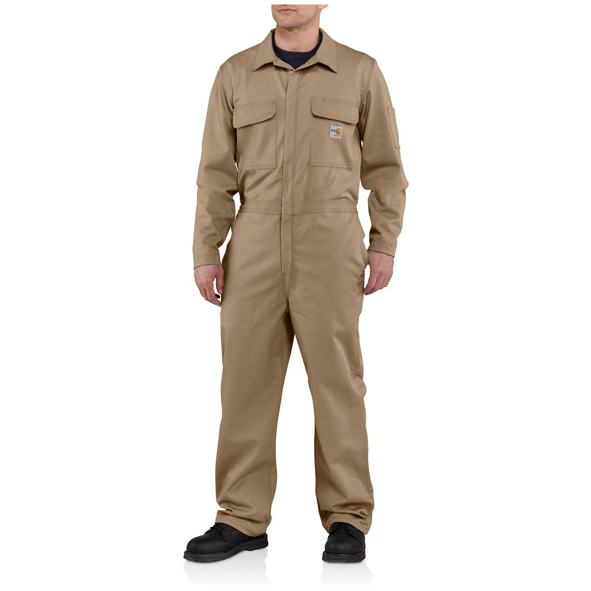 Carhartt® Flame-resistant Classic Twill Coveralls, Khaki