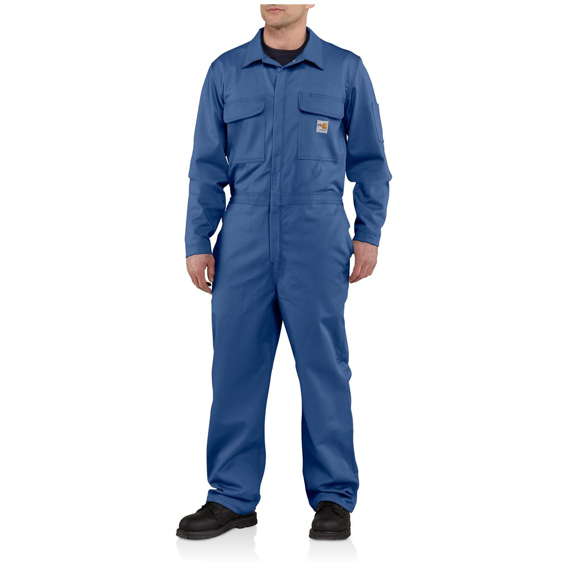 Carhartt® Flame-resistant Classic Twill Coveralls, Royal