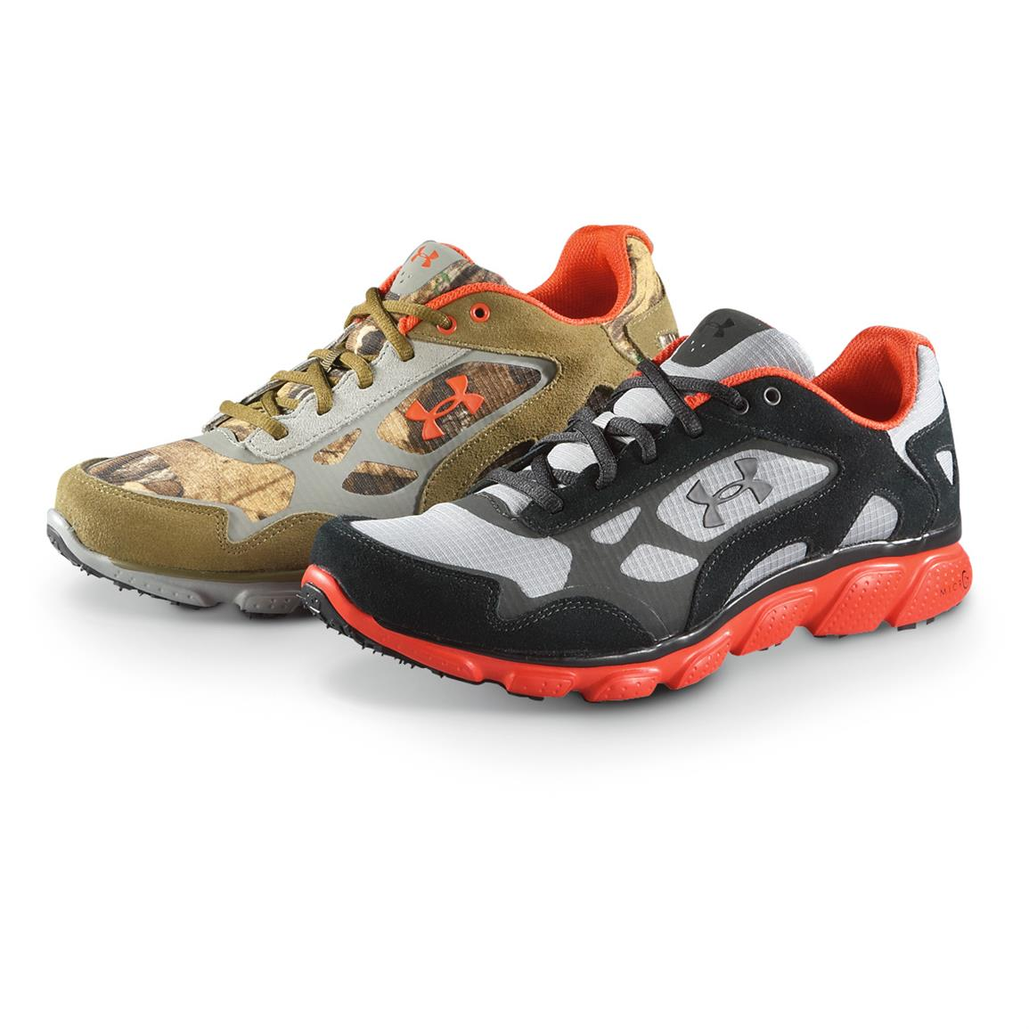 Under Armour Men's Grit Off-Road Shoe, Battleship / Storm / Viper - Realtree XTRA® / Drab / Storm