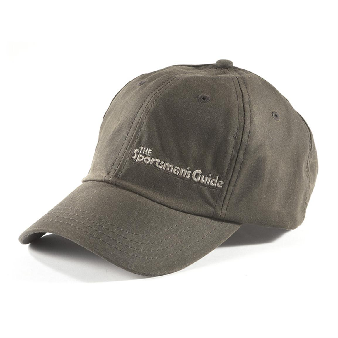 The Sportsman's Guide® Logo Waxed Cotton Baseball Cap, Brown
