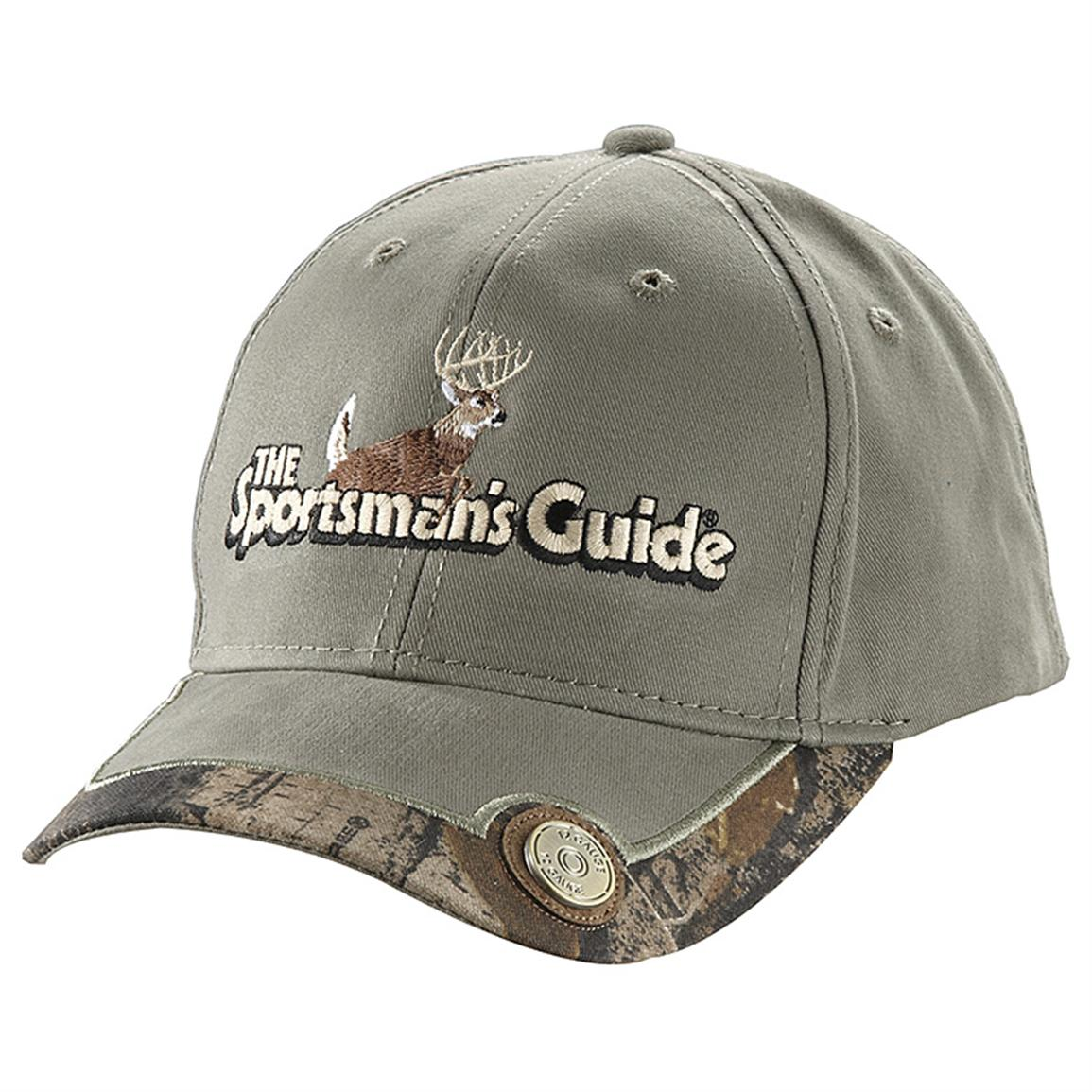 The Sportsman's Guide® Logo 12 gauge Baseball Cap, Taupe