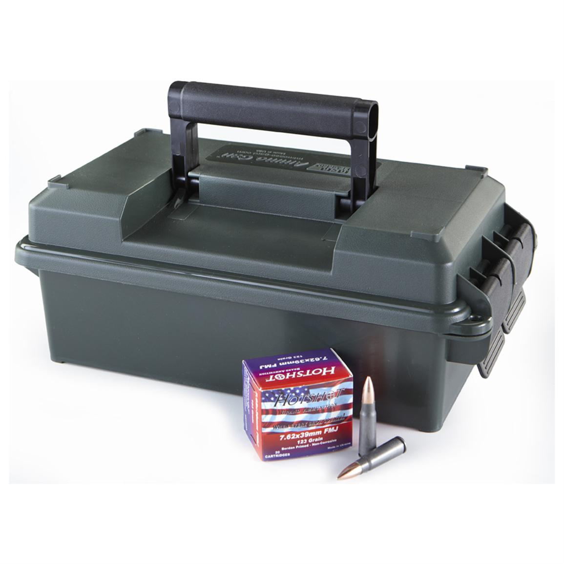 200 rounds HotShot® 7.62x39mm 123 Grain FMJ Ammo in .30 Cal. Ammo Can