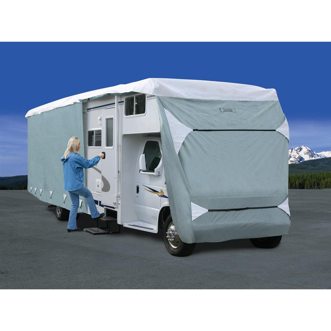 Deluxe PolyPro III Class C RV Cover, Gray