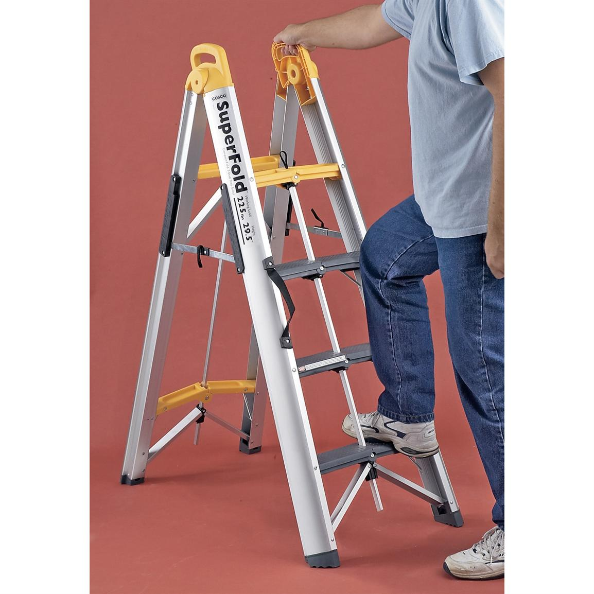 Cosco Superfold 174 3 Step Ladder 49555 Garage Amp Tool
