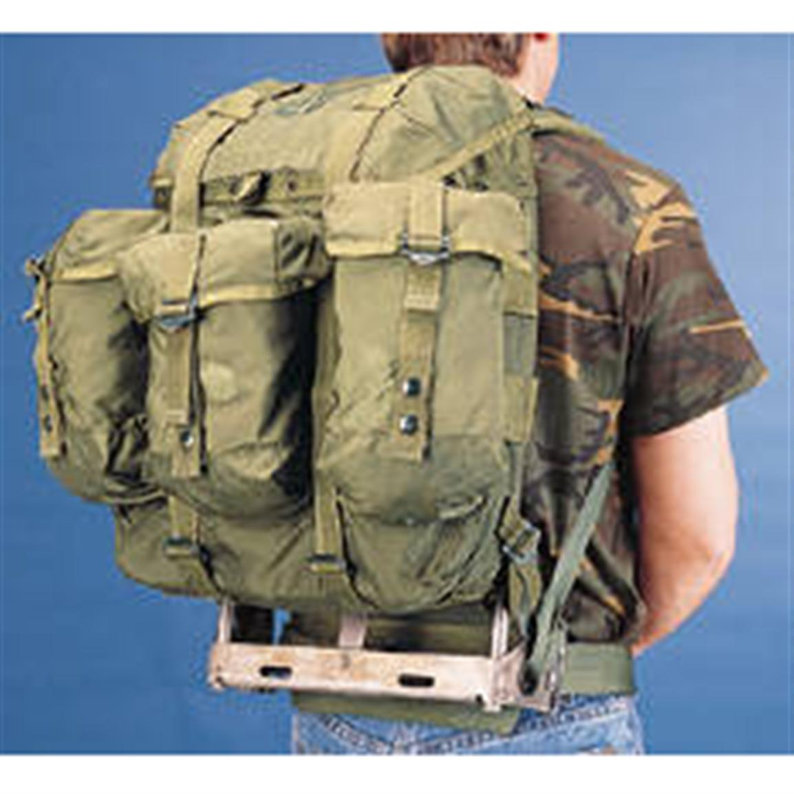 Used Military Surplus Medium Pack without Metal Frame