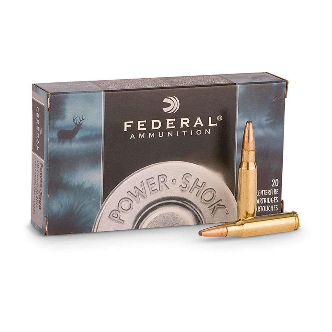 Federal Power-Shok .270 Win. 130 Grain SPRN 20 rounds