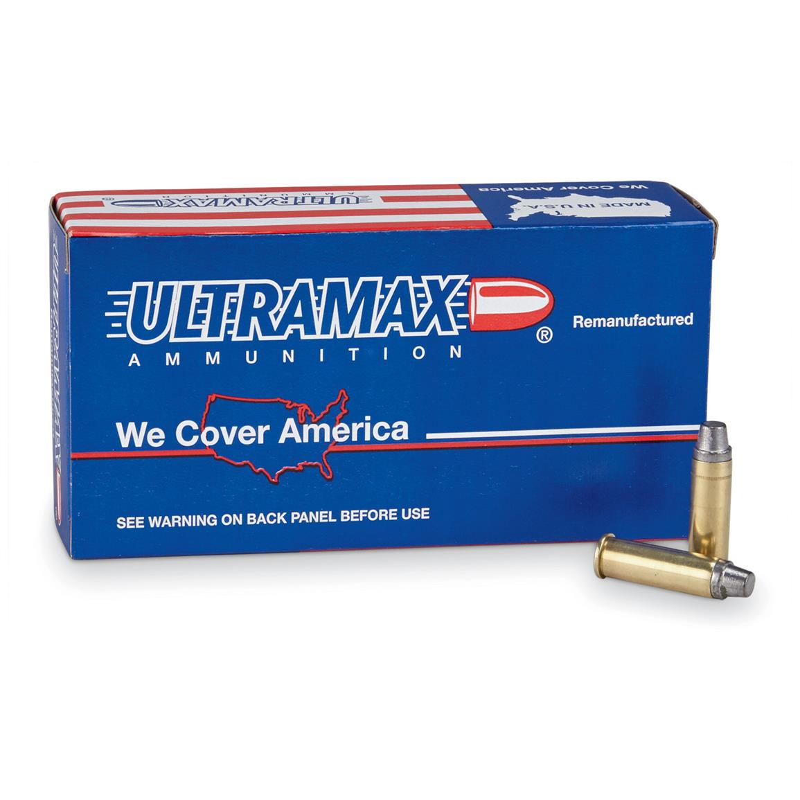 Ultramax, Remanufactured , 38 Special, SWC, 158 Grain, 500 Rounds