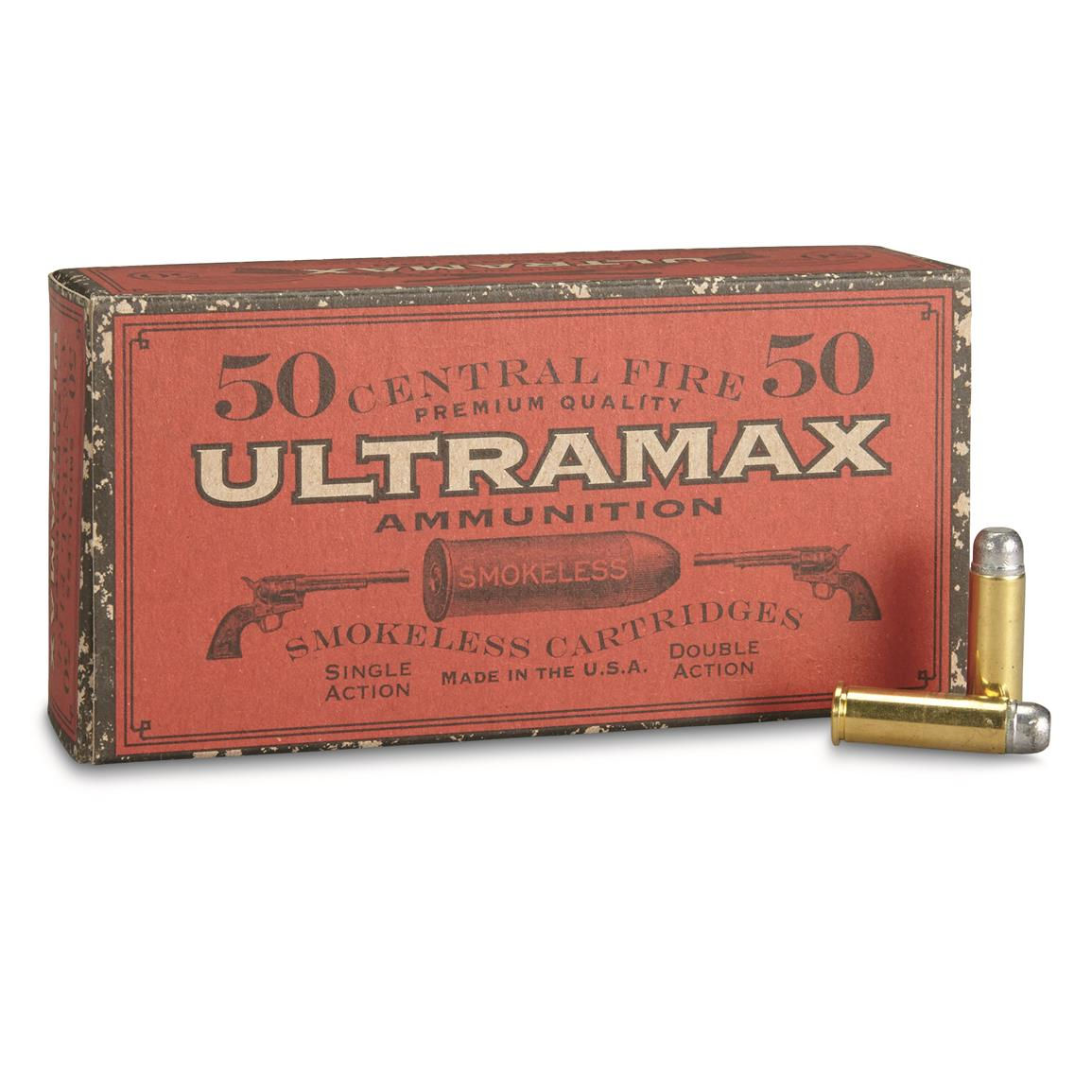 Ultramax Cowboy-Action, .38 Special, RNFP, 158 Grain, 50 Rounds