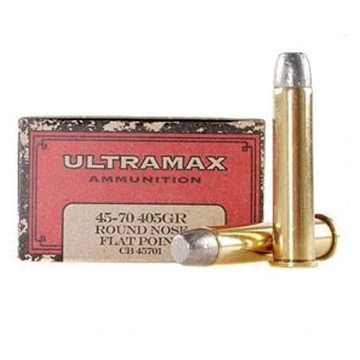 Ultramax Cowboy Action, .45-70 Government, RNFP, 405 Grain, 20 Rounds